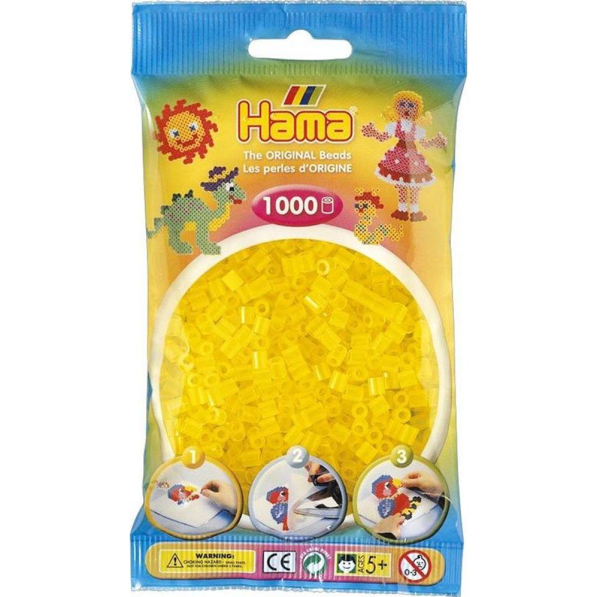 Hama H207-14 Midi Priehľadné žlté korálky 1000 ks