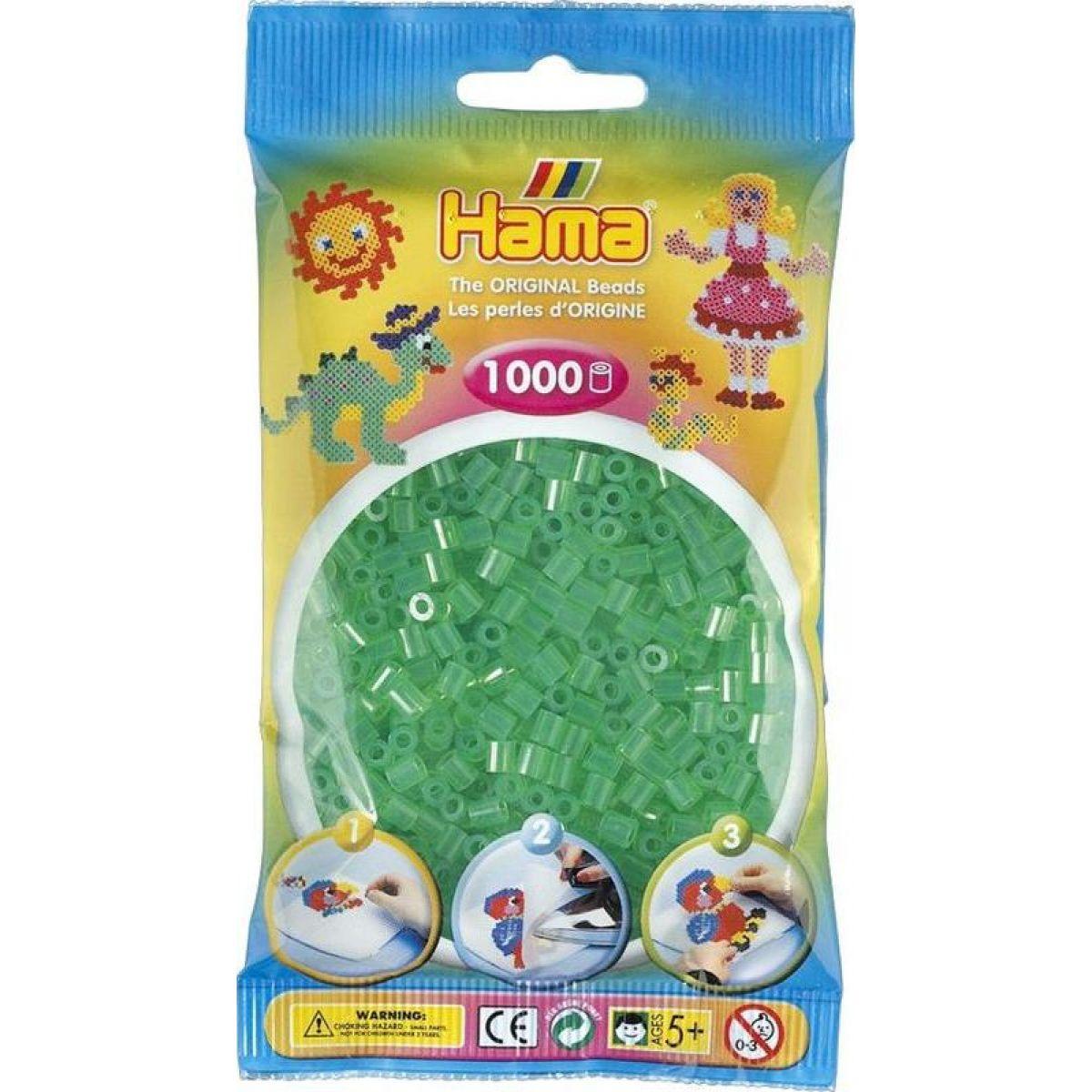 Hama H207-16 Priehľadné biele koráliky 1000 ks Midi