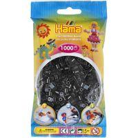 Hama H207-18 Zažehľovacie korálky Midi čierne 1000 ks