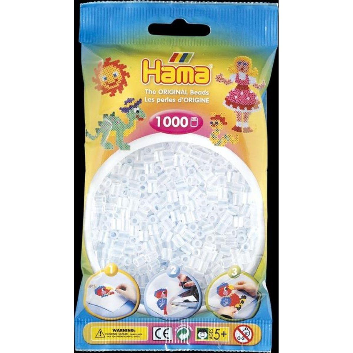 Hama H207-19 Midi Číre korálky 1000 ks