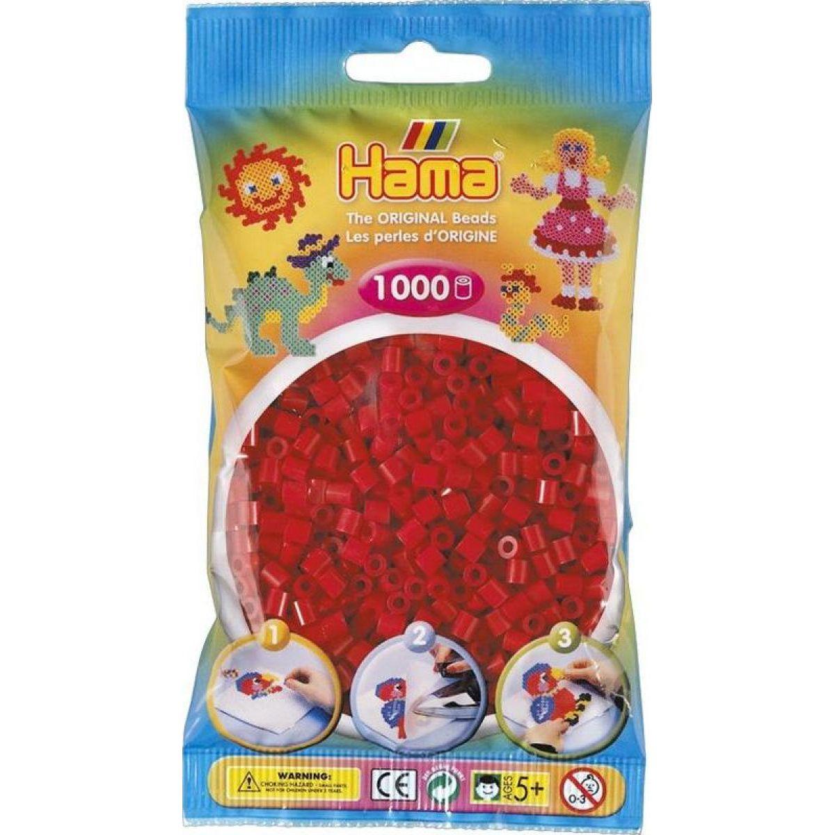 Hama H207-22 Midi Tmavo červené koráliky 1000 ks