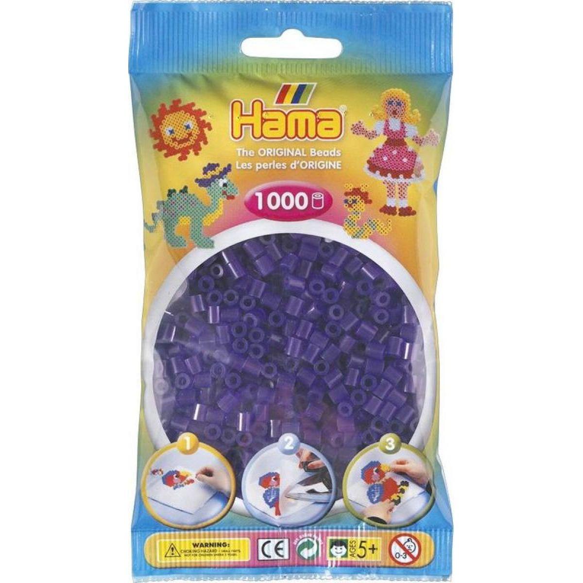 Hama H207-24 Midi Priehľadné fialové korálky 1000 ks