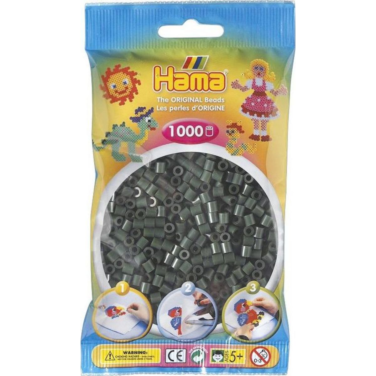 Hama H207-28 Midi Tmavozelené koráliky 1000 ks