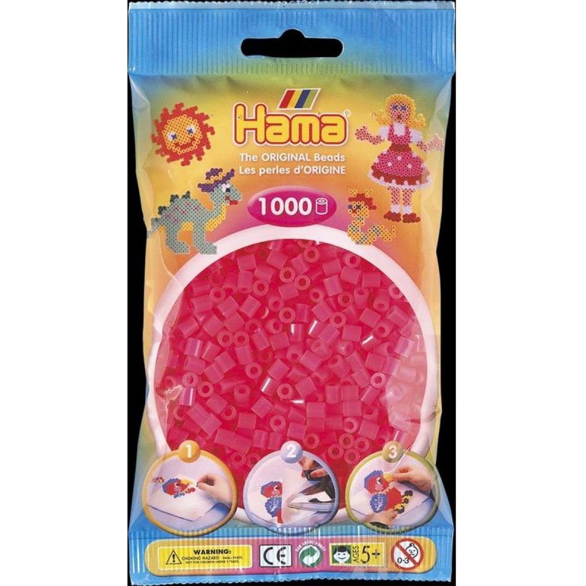 Hama H207-32 Midi Neónové ružové 1000 ks