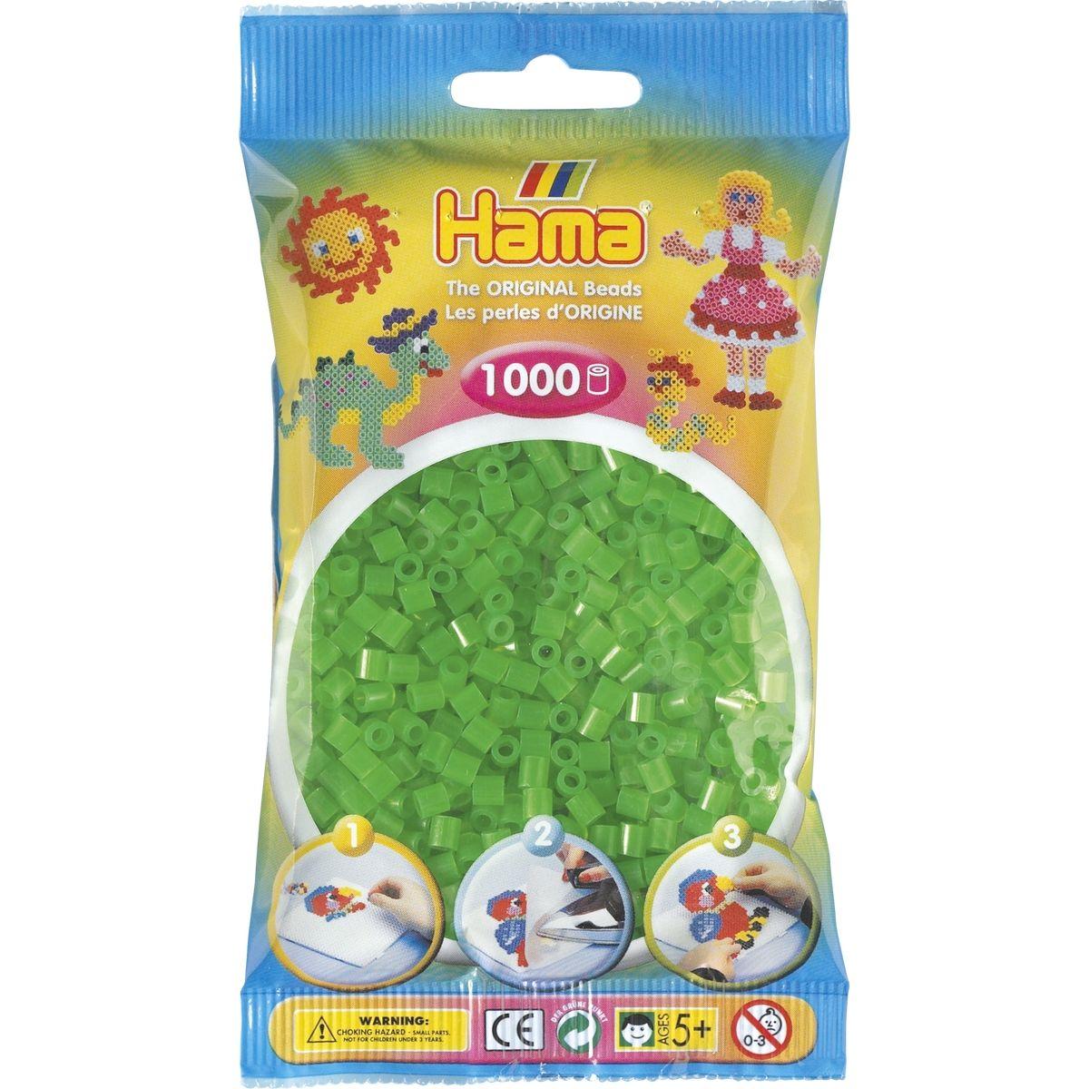Hama H207-37 Midi Neónové zelené korálky