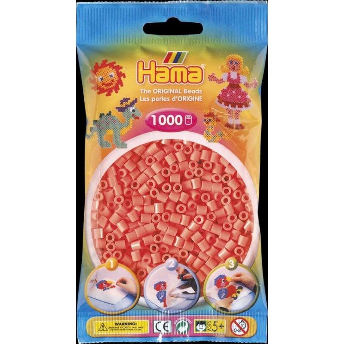 Hama H207-44 Midi Pastelovo červené korálky 1000 ks