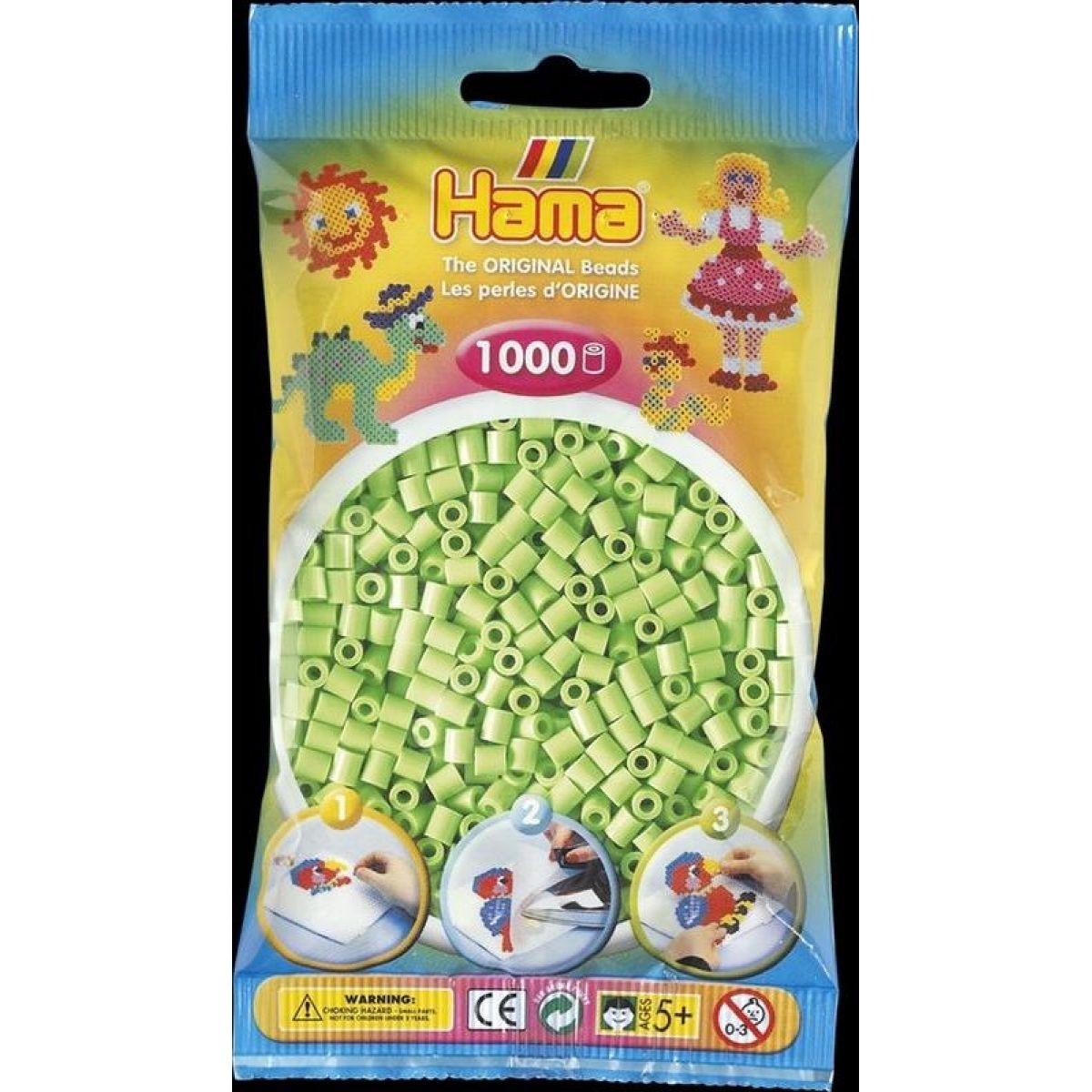 Hama H207-47 Midi Pastelovo zelené korálky 1000 ks