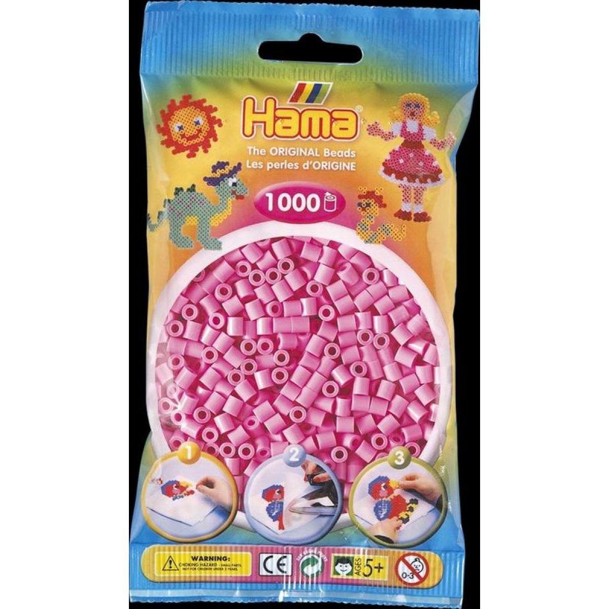 Hama H207-48 Midi Pastelové ružové koráliky 1000 ks