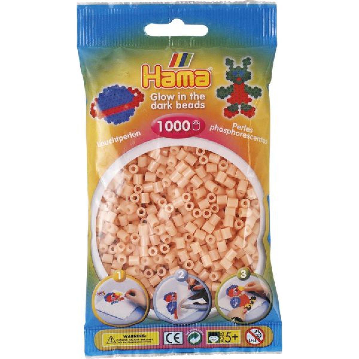 Hama H207-56 Zažehľovacie korálky Midi svietiace lososovej 1000 ks