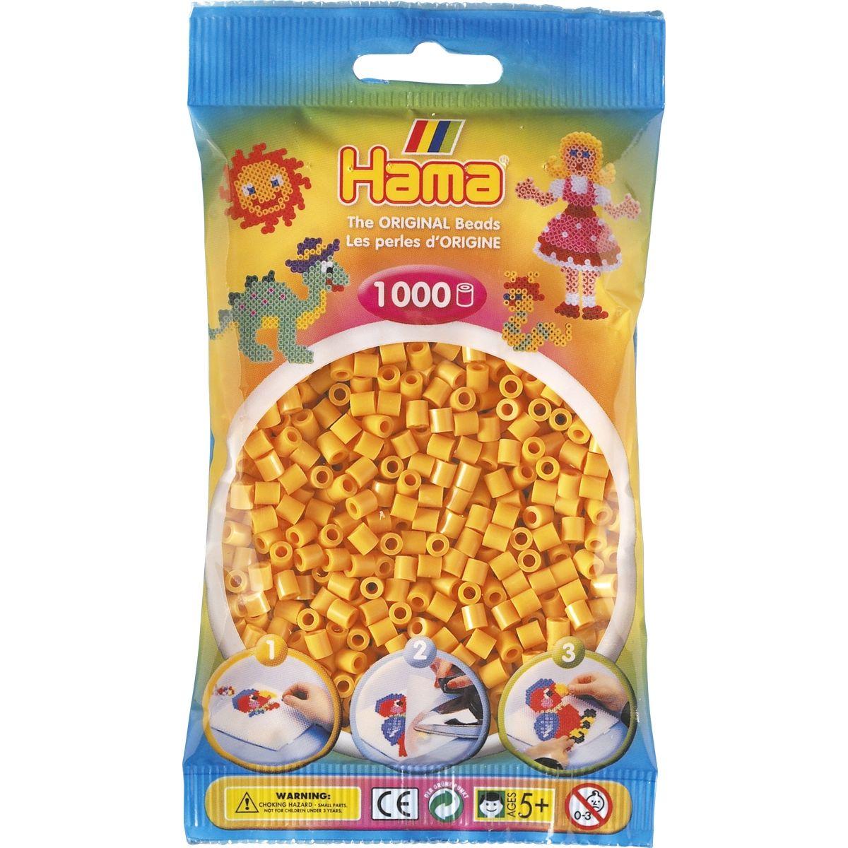Hama H207-60 Midi Medově hnědé korálky 1000 ks