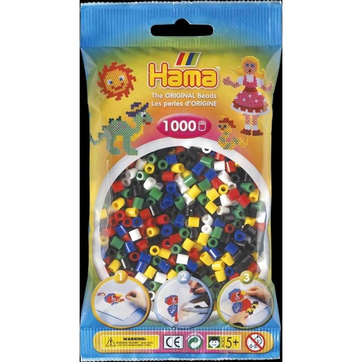 Hama H207-66 Midi Korálky v sáčku mix 1, 3, 5, 8, 10 a 18