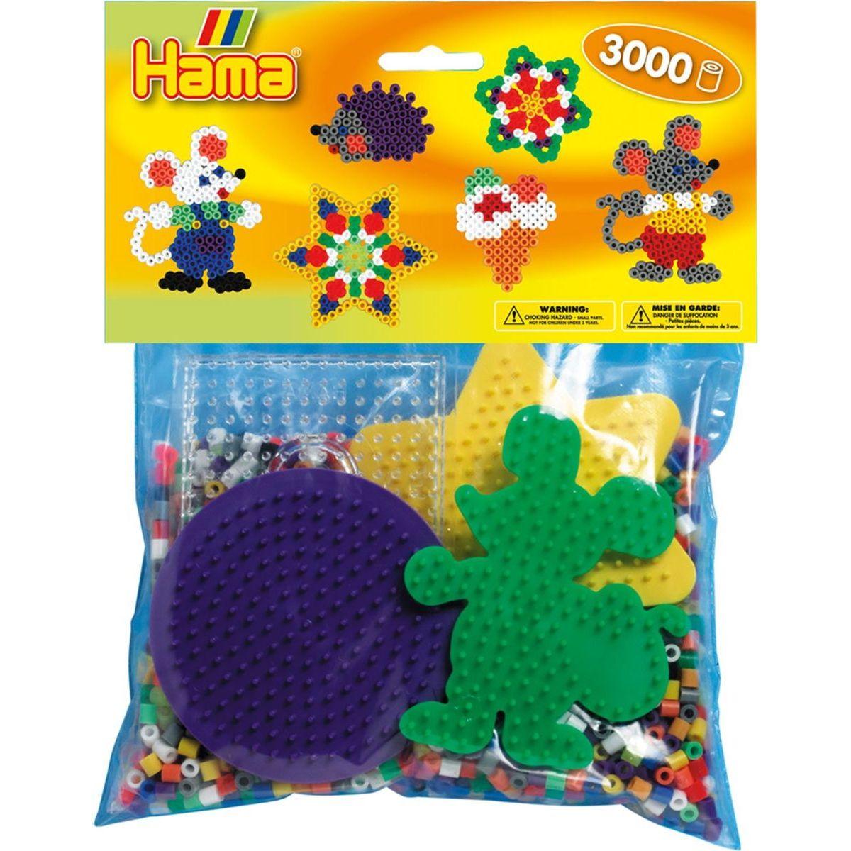 Hama H4411 Mix korálok a podložiek Midi
