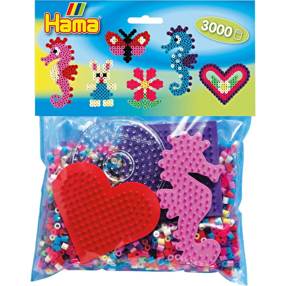 Hama H4412 Mix korálok a podložiek Midi