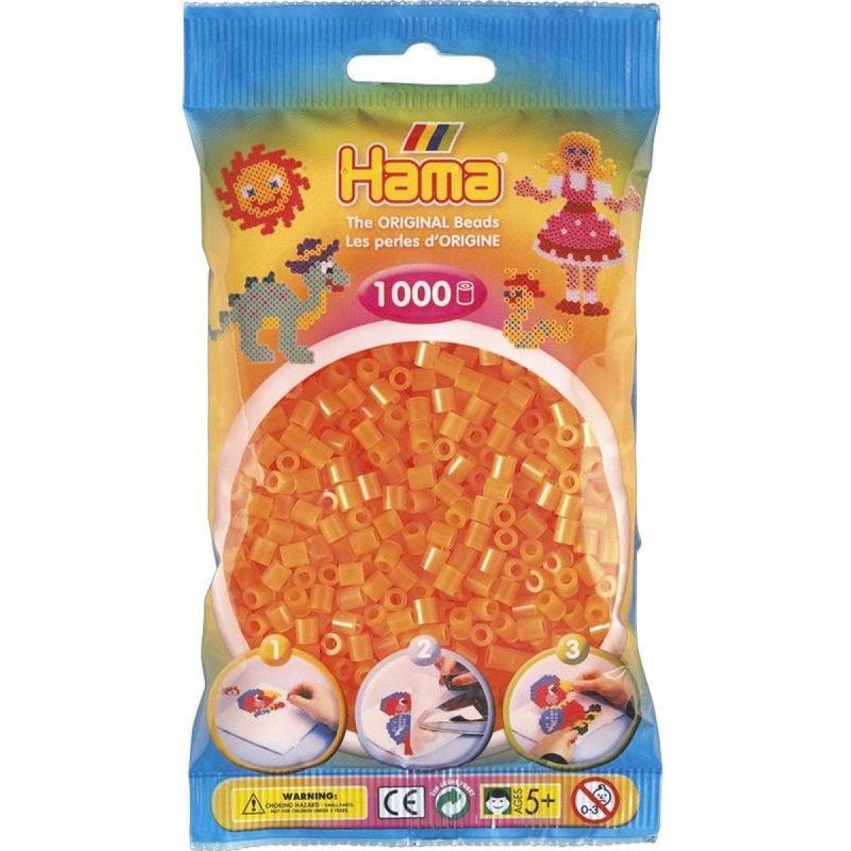 Hama zažehľovací korálky MIDI - neónové oranžové 1000ks