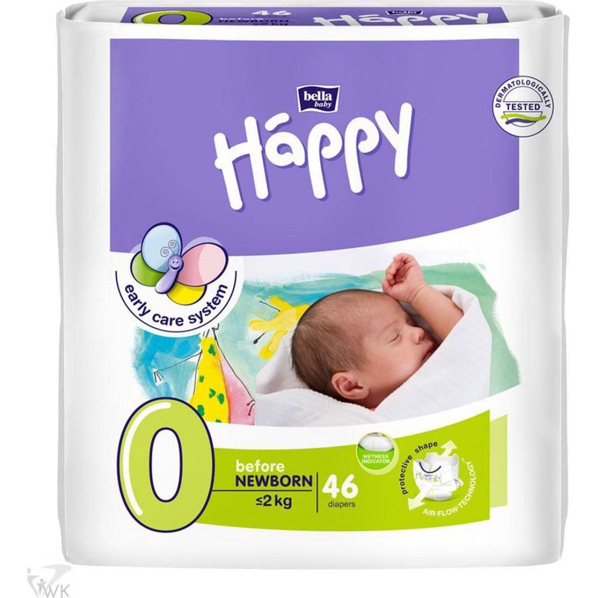 Bella Baby Happy before newborn detské plienky 46ks