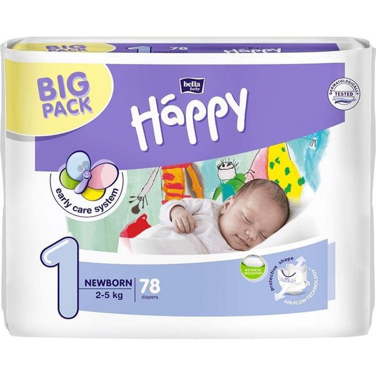Happy plienky New Born 78ks