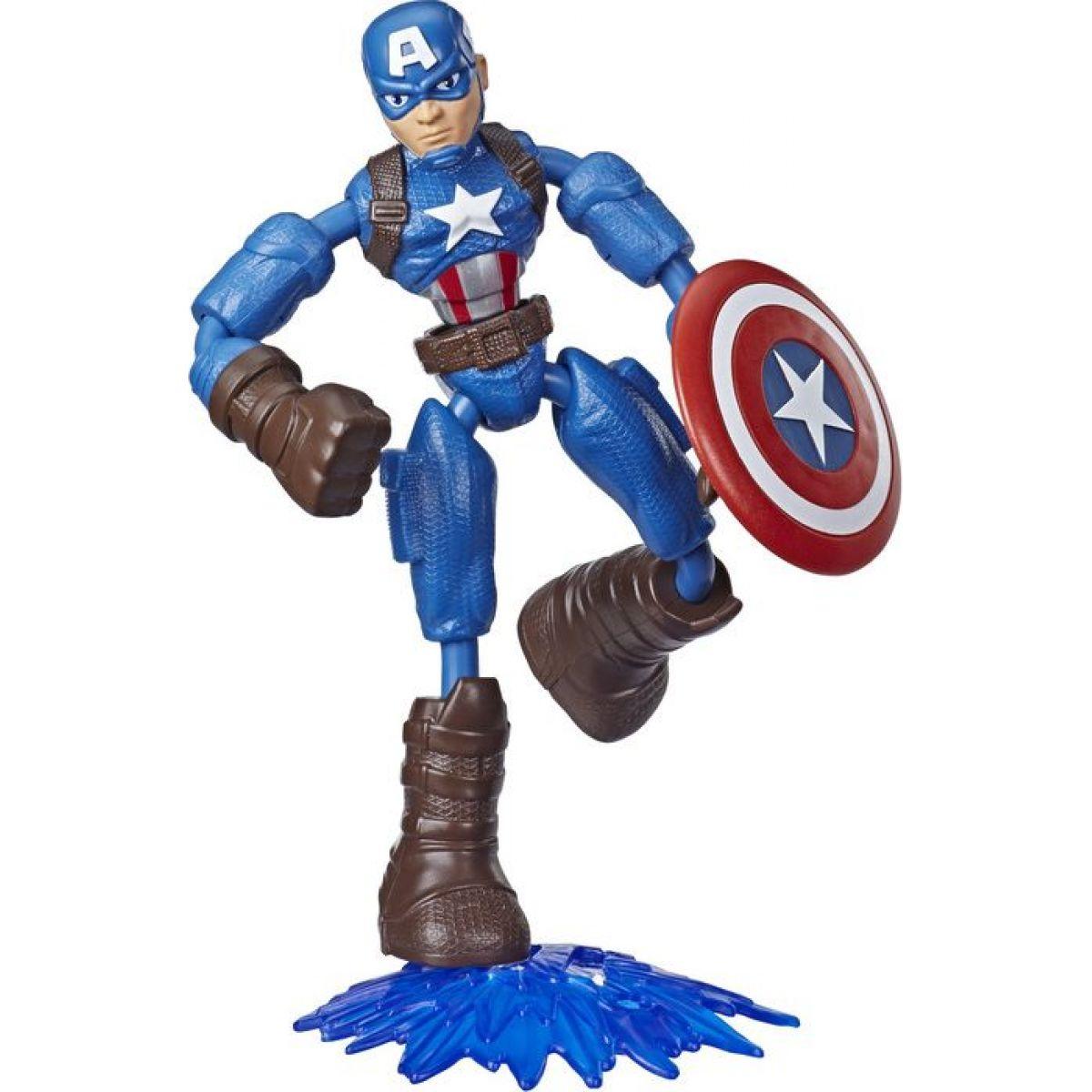Hasbro Avengers figúrka Bend and Flex 15 cm Captain America