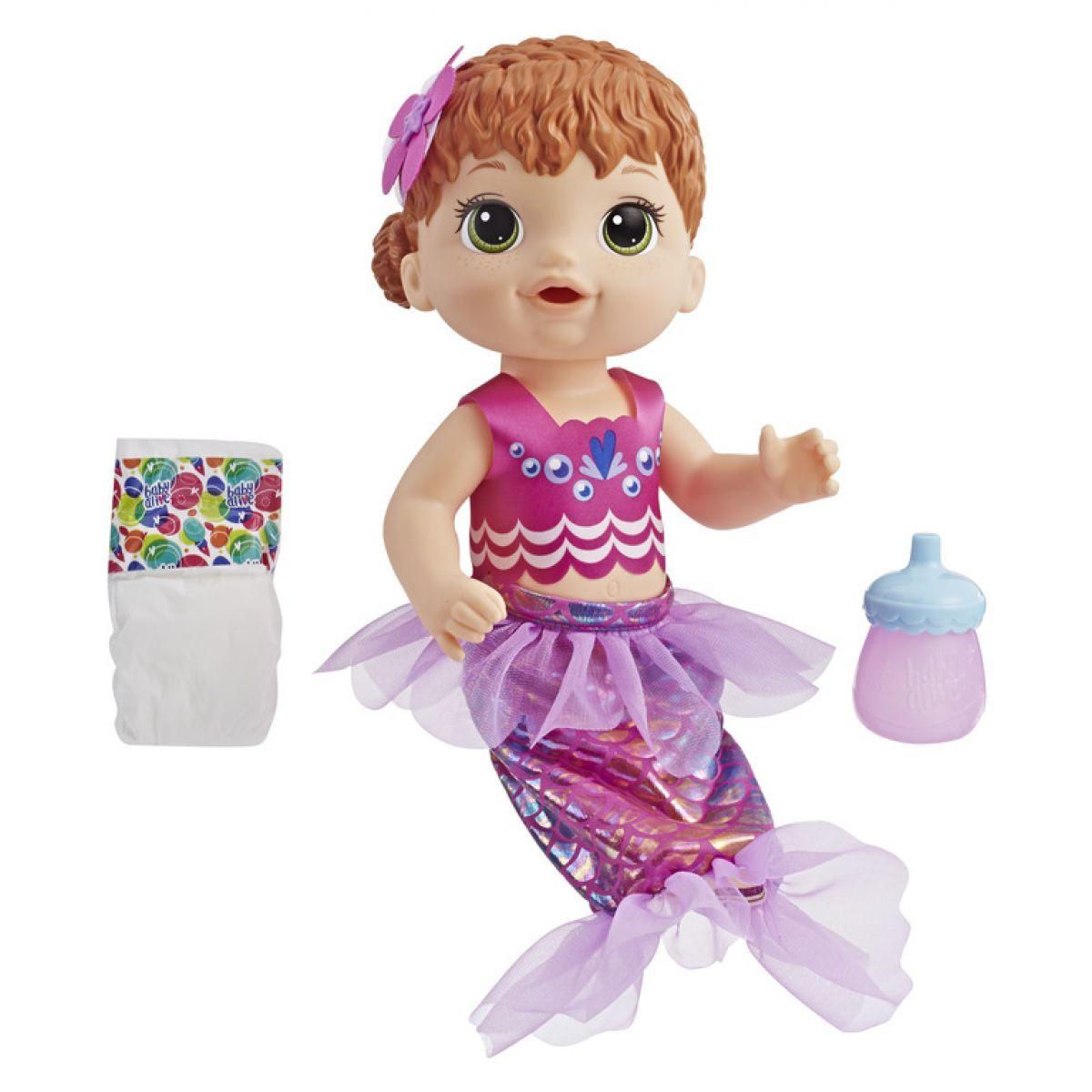 Hasbro Baby Alive Ryšavá morská panna