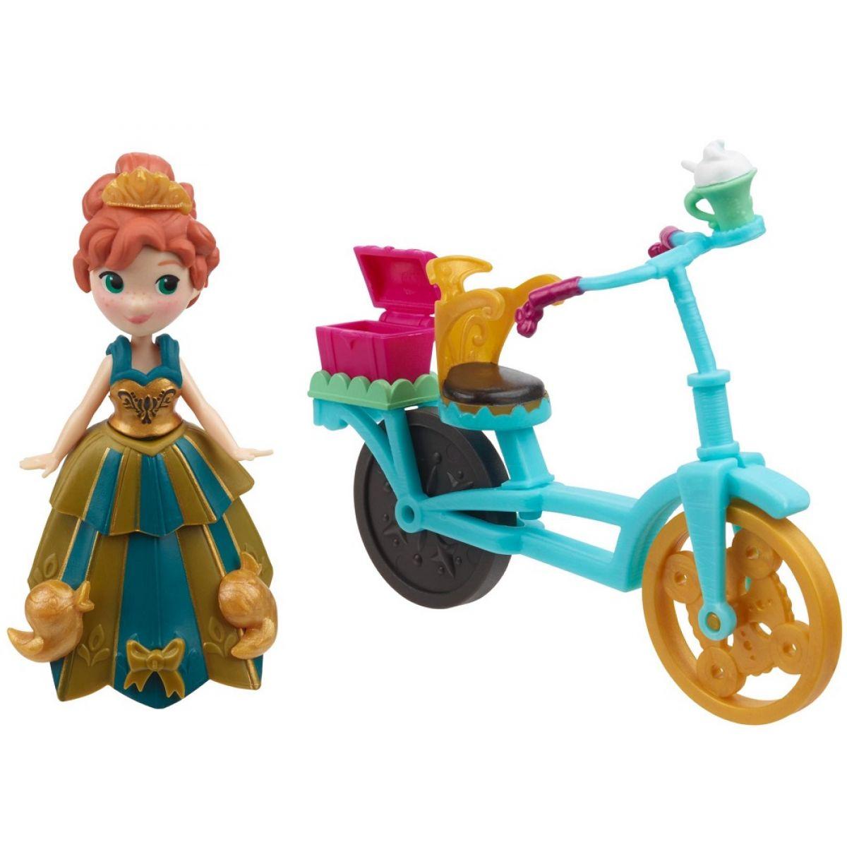 Hasbro Disney Frozen Little Kingdom Mini panenka s doplňky Anna & Bicycle