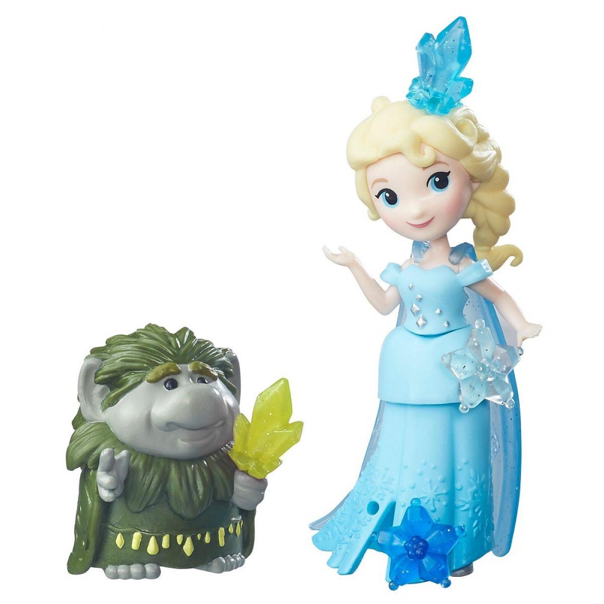 Hasbro Disney Frozen Little Kingdom Mini panenka s kamarádem Elsa & Grand Pabbie