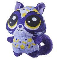 Hasbro Littlest Pet Shop Plyšové zvířatko ukryté v pitíčku fialový ocásek