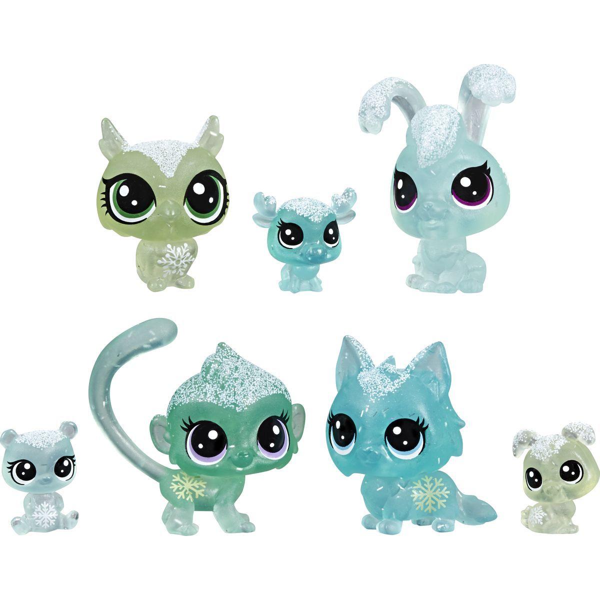 Hasbro Littlest Pet Shop Zvieratká z ľadového kráľovstva 7ks zelená
