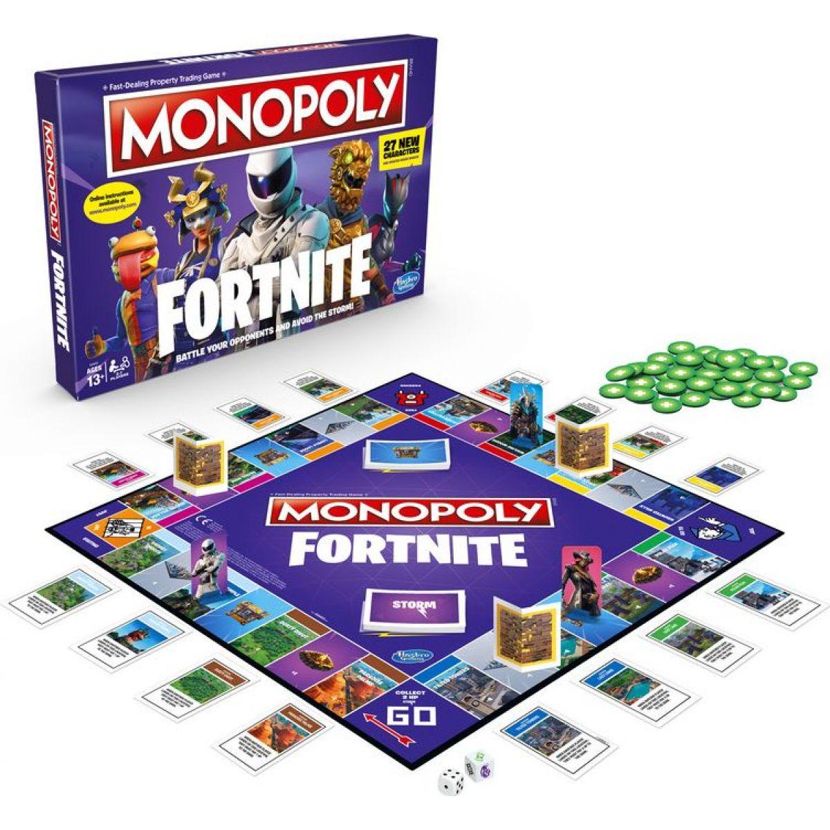 Hasbro Monopoly fortným spoločenská hra ANJ