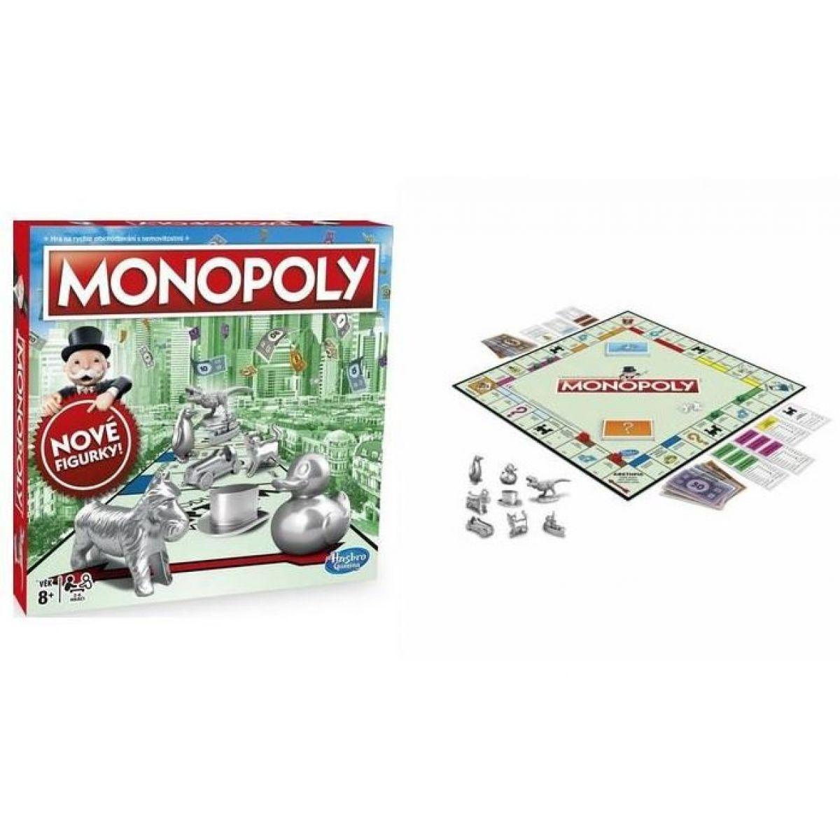 Hasbro Monopoly hra strieborné figúrky CZ