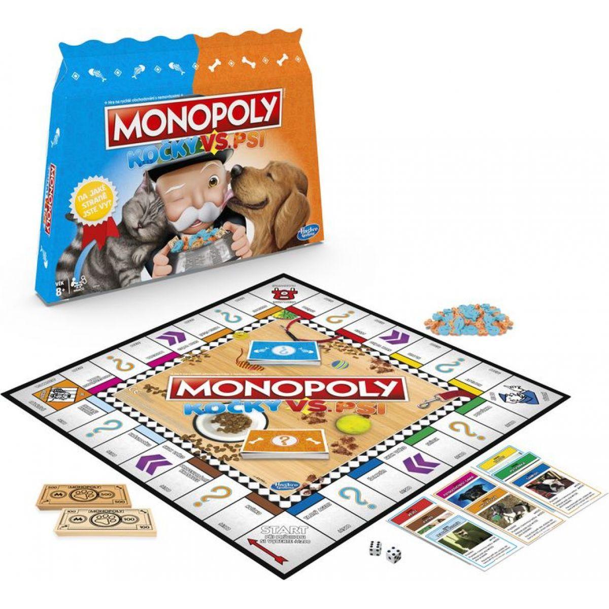 Hasbro Monopoly Mačky vs. Psy