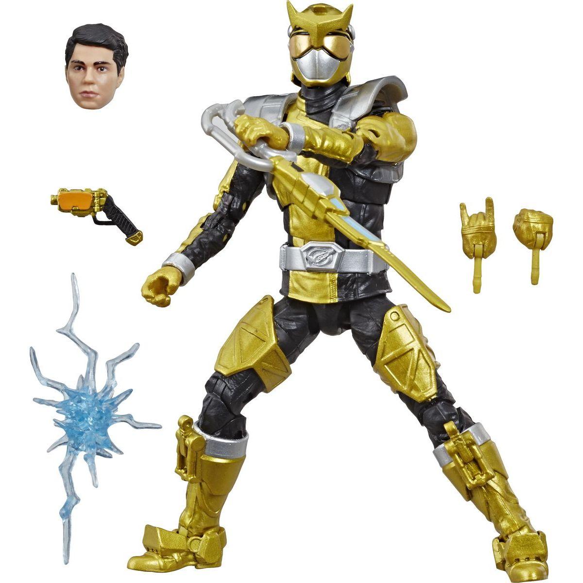 Hasbro Power Rangers 15 cm figúrka s výmennou hlavou Beast Morphers Gold Ranger