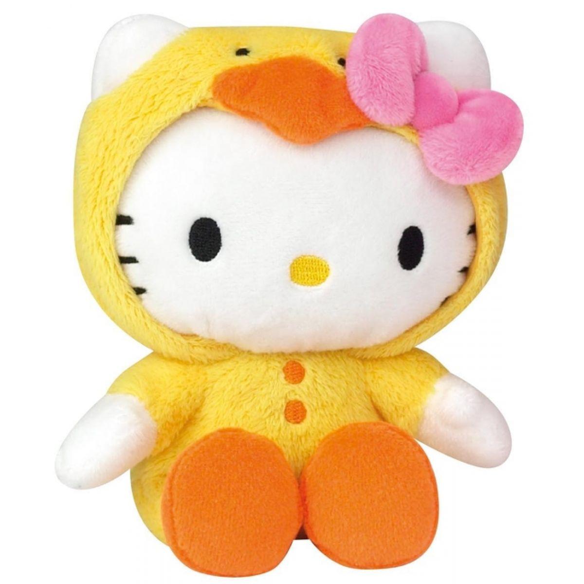 Hello Kitty v oblečku Žluté kuřátko 15 cm