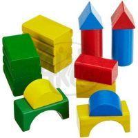 Heros drevené kostky farebné 30ks 2