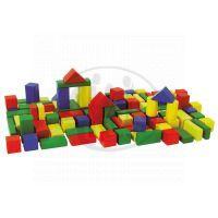 Eichhorn Dřevěné kostky barevné 50ks 2