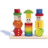 Heros dřevěná hra puzzle figurky
