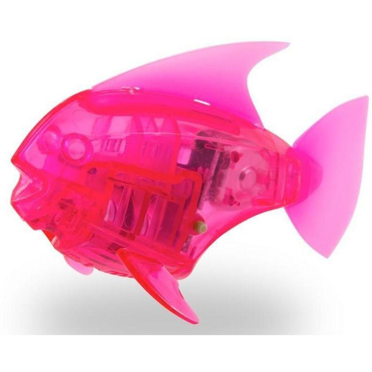 Hexbug Aquabot Led s akváriem Piraňa růžová