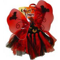 HM Studio Detský kostým Halloween víla červená