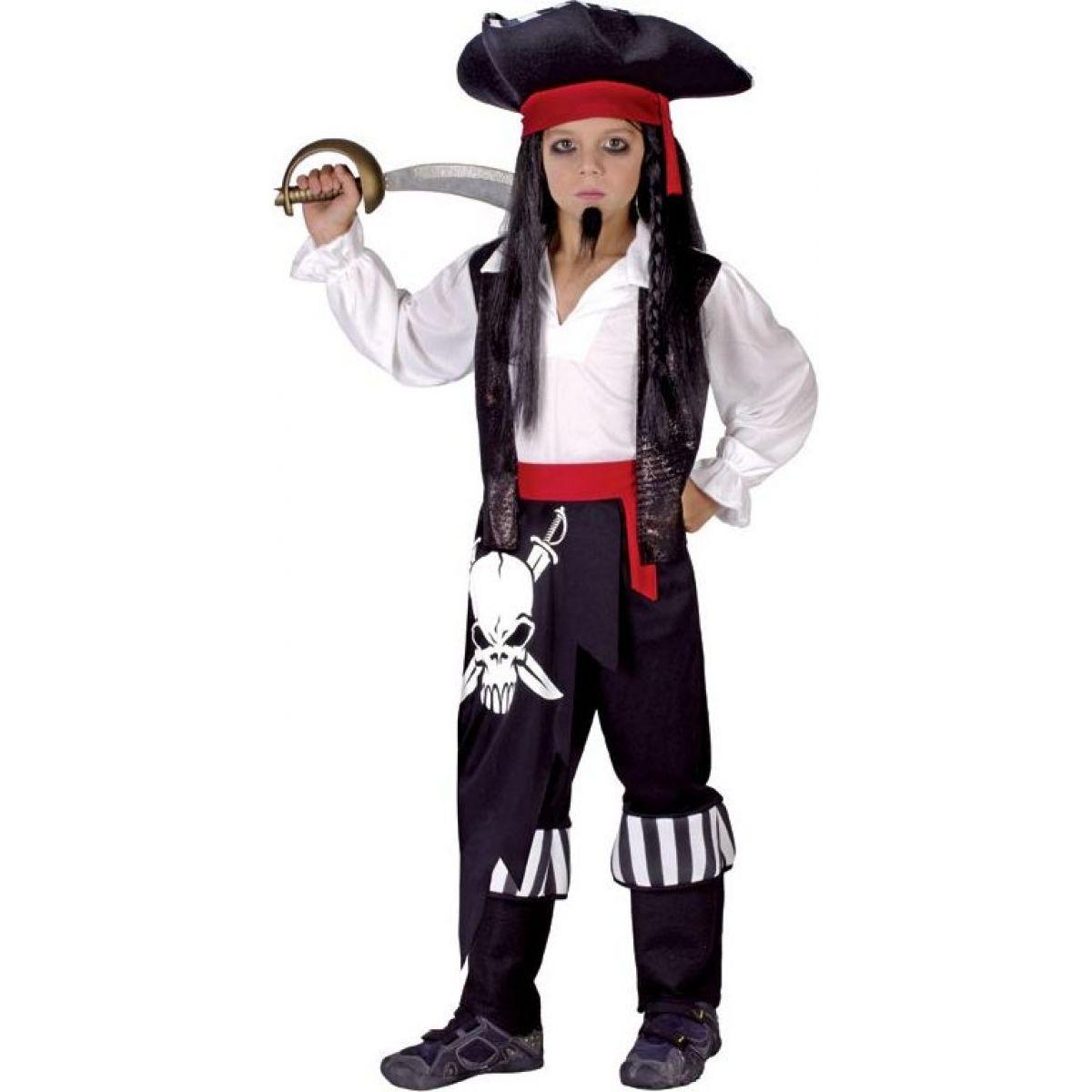 HM Studio Detský kostým Pirát 110 - 120 cm