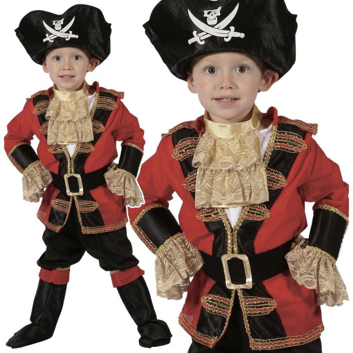 HM Studio Detský kostým Pirát 92 - 104 cm - Poškodený obal