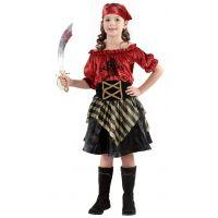HM Studio Detský kostým Pirátka 110 - 120 cm