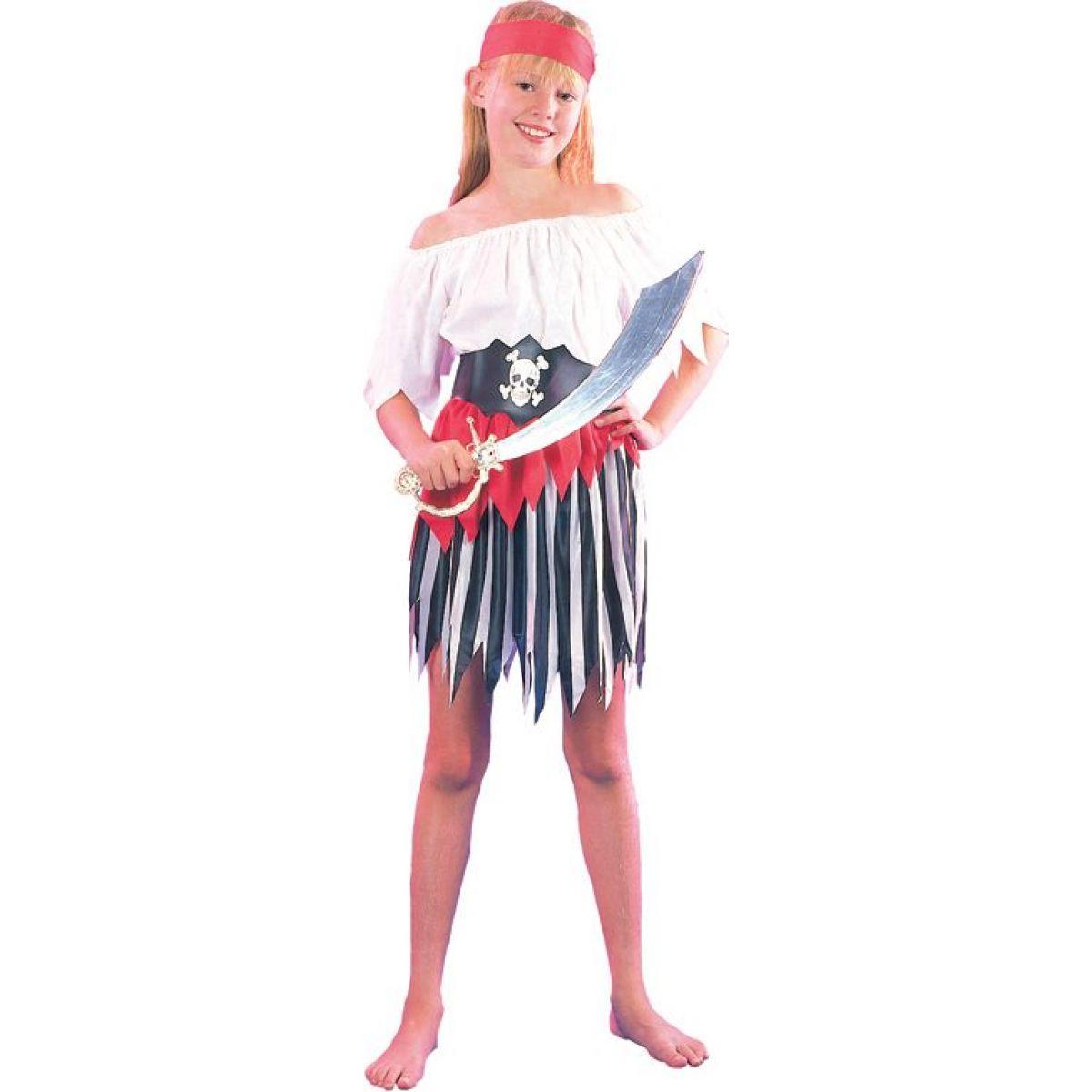HM Studio Detský kostým Pirátka 130-140 cm