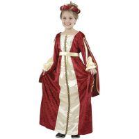 HM Studio Detský kostým Princezná Vínovočervené šaty 130-140 cm