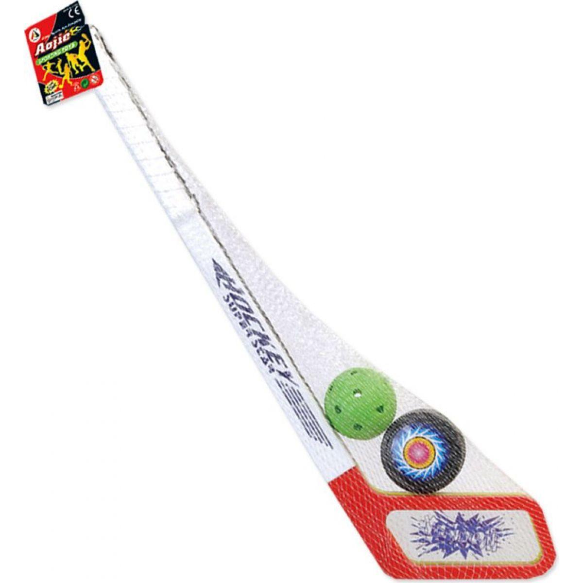 HM Studio Hokejky s pukom a florbalovou loptičkou 55 cm