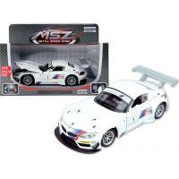 HM Studio kovový model BMW Z4 GT3 bílé 1:24