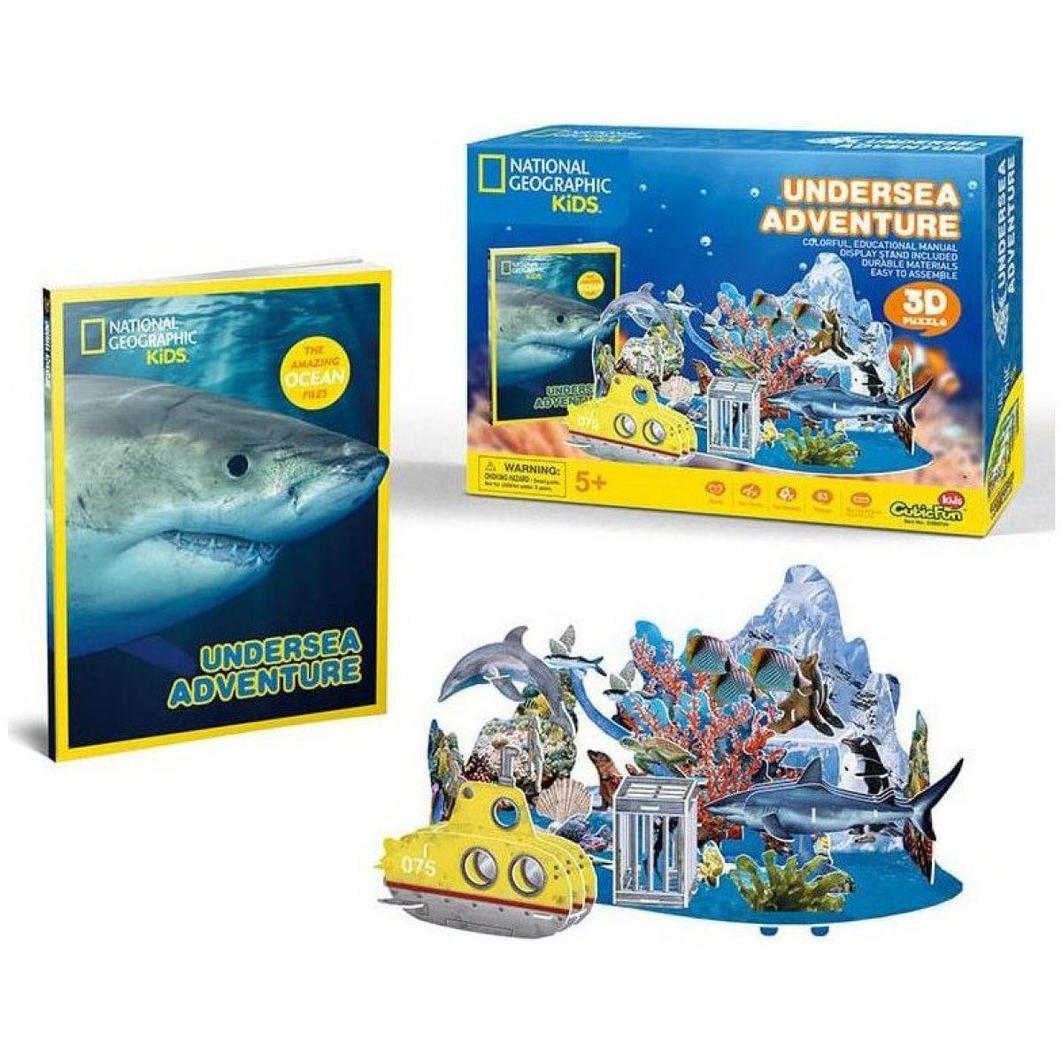 HM Studio National Geografic Puzzle 3D Podmorské dobrodružstvo 63 dielikov