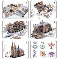 HM Studio Puzzle 3D Katedrála Kolín nad Rýnom 179 dielikov 4