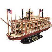 HM Studio 3D puzzle Mississippi Steamboat 142 dílků