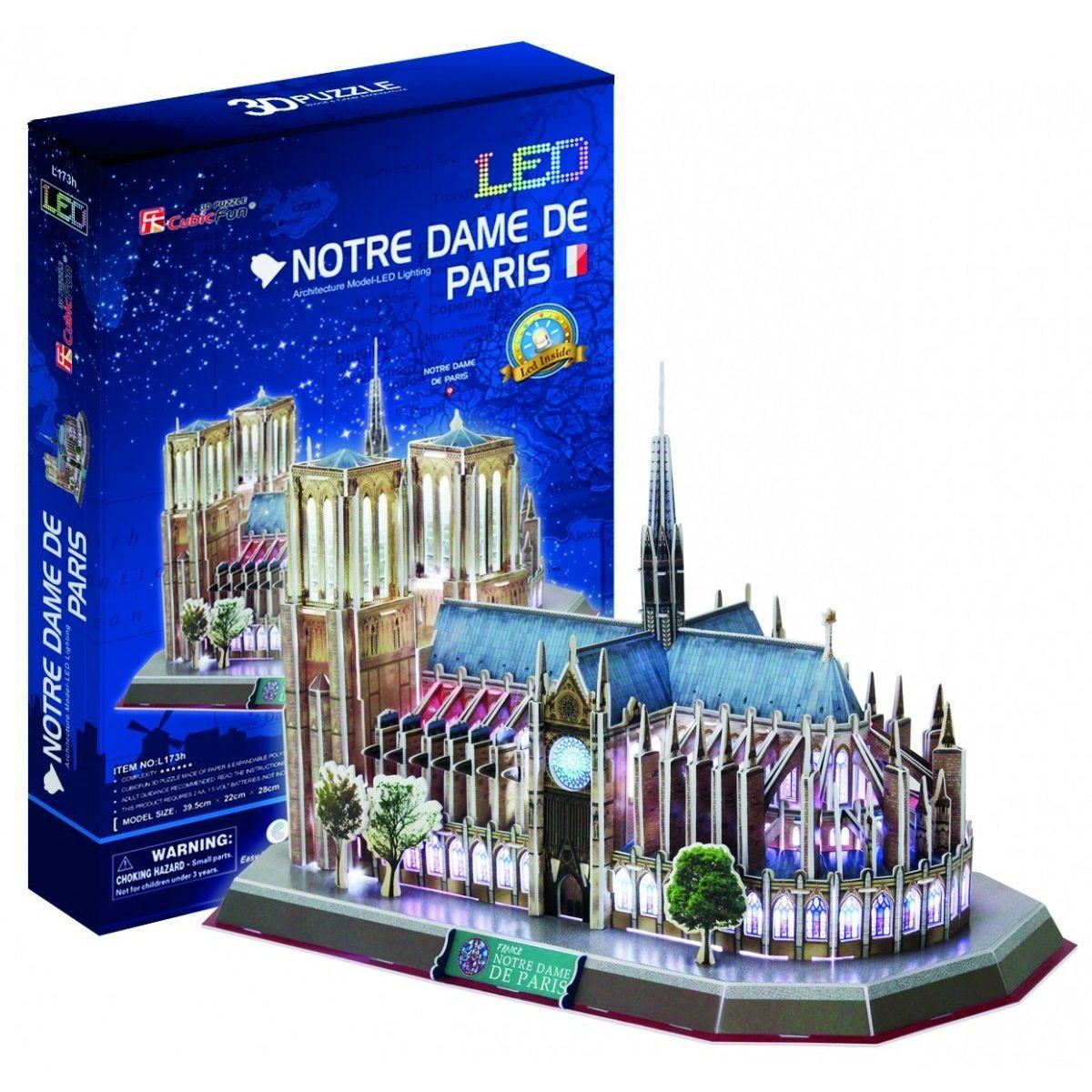 HM Studio 3D puzzle Notre Dame de Paris LED 144 dílků