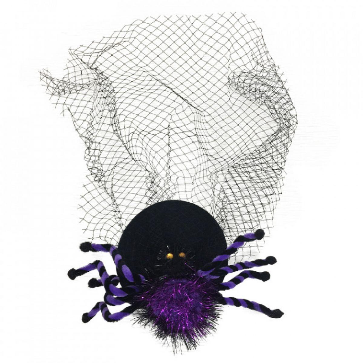HM Studio Spona do vlasov pavúk so sieťou