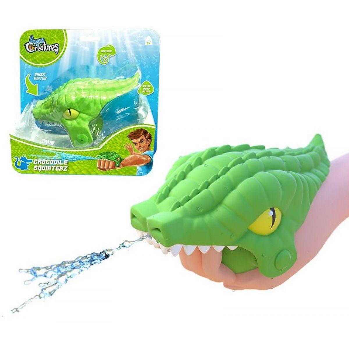 HM Studio Striekajúci krokodíl do vody zelený