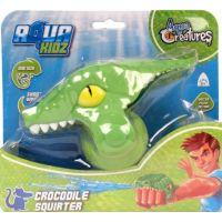 HM Studio Striekajúci krokodíl do vody zelený 3